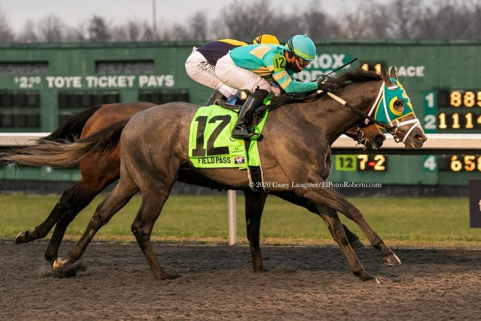 Field Pass (Lemon Drop Kid) wins the Jeff Ruby Stakes at Turfway Park.