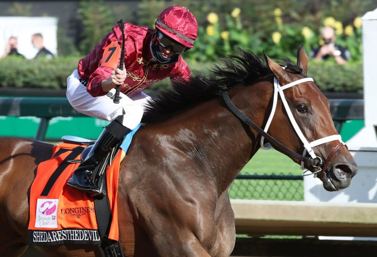 SHEDARESTHEDEVIL - The Longines Kentucky Oaks - 146th Running - 09-04-20 - R12 - CD - Finish 03